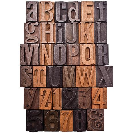 Tim Holtz Idea-Ology Wooden Letters/Numbers - Set of 35