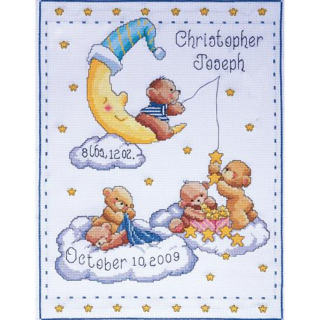 Tobin Birth Record Counted Cross Stitch Kit - Bears