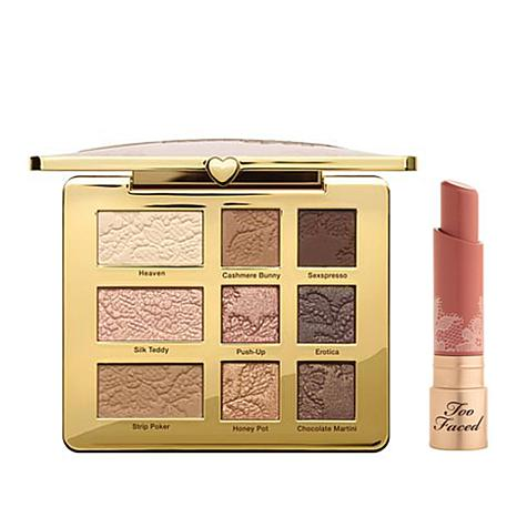 Too Faced Naturally Sexy Set with 9-Shade Palette and Lipstick