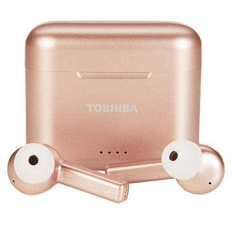 Toshiba Truly Wireless Active Noise-Cancelling Earbuds w/Charging Case