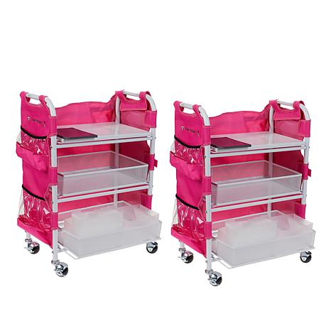 Totally-Tiffany Craft Cart Set of 2 with Aprons and Die Storage