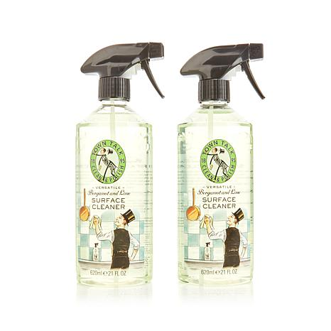 Town Talk Polish 2 Pack 21 Fl Oz Spray Bottles Bergamont Lime Surface Cleaner