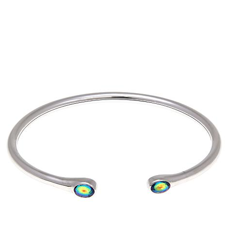 Traveler's Journey 1.12ctw Rainbow Quartz Doublet Flex Cuff Bracelet