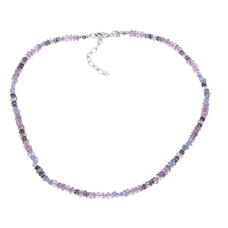 "Traveler's Journey Amethyst and Gem Bead 18"" Necklace"
