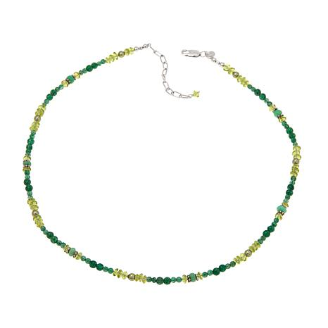 "Traveler's Journey Peridot and Multigem 18"" Necklace"