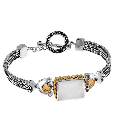 Traveler's Journey Rectangular Moonstone Bracelet