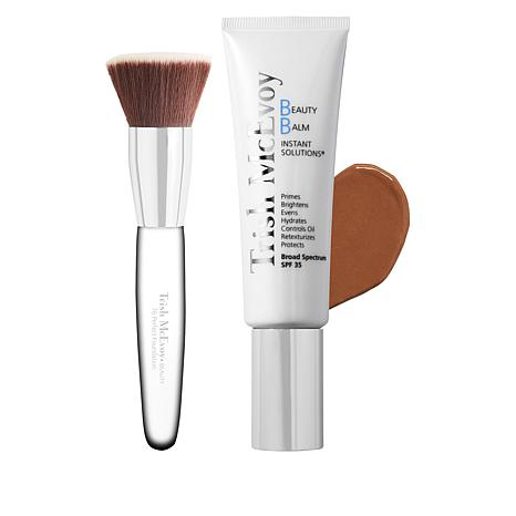 Trish McEvoy Shade 3 Beauty Balm Instant Solutions with Brush