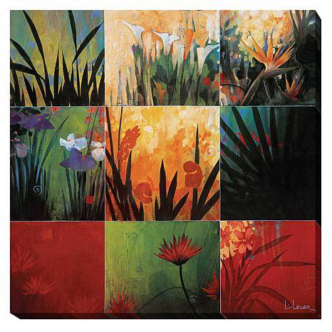 """Tropical Nine Patch"" Gallery-Wrapped Canvas Art"