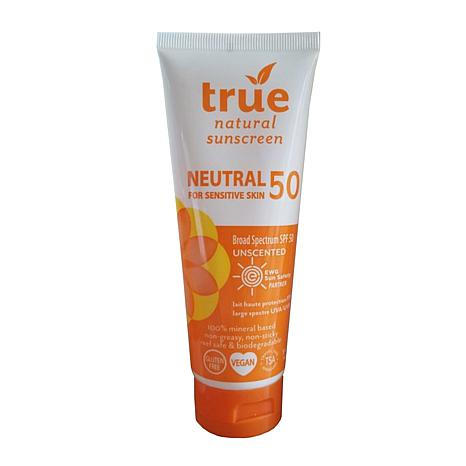 True Naturals SPF 50 Sunscreen Neutral Unscented Broad Spectrum