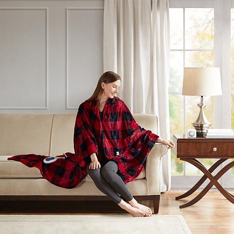 True North by Sleep Philosophy Buffalo Check Oversized Heated Plush...