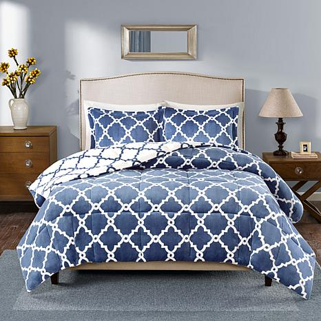 True North Peyton Reversible Navy Comforter Set - King