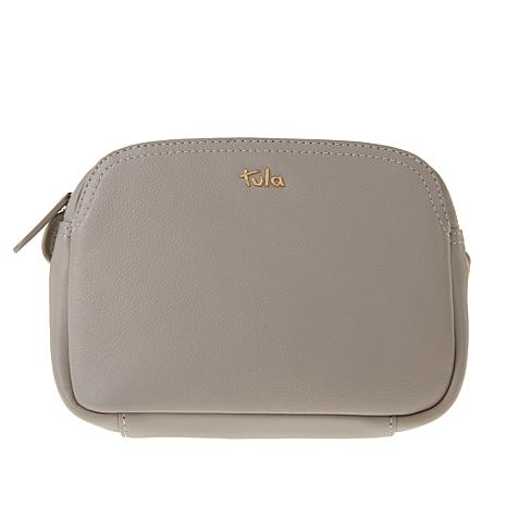 Tula England Small Zip-Top Grainy Leather Crossbody Bag