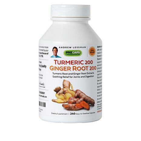 Turmeric 200 Ginger Root 200 - 240 Capsules
