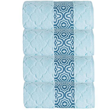 Turner Zero-Twist Turkish Cotton 4-piece Bath Towel Set