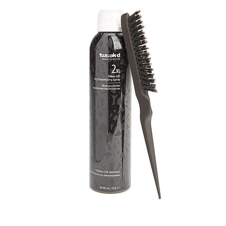 Tweak-d 2 XL Fiber Lift Dry Volume Spray with Teasing Brush