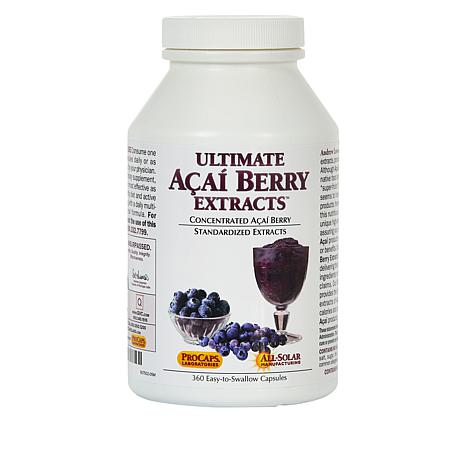 Ultimate Acai Berry Extracts - 360 Capsules