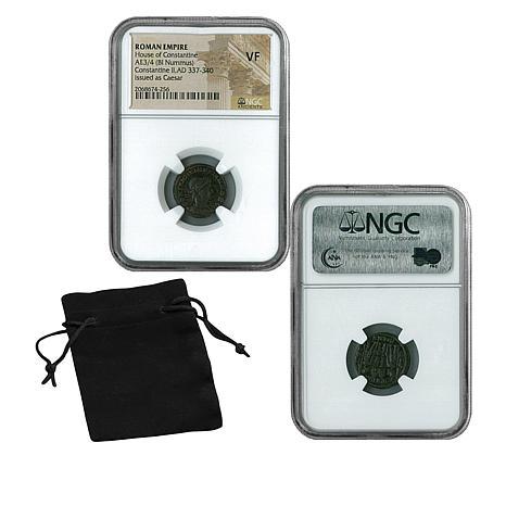 VF NGC Emperor Constantine II Roman Empire Bronze Coin