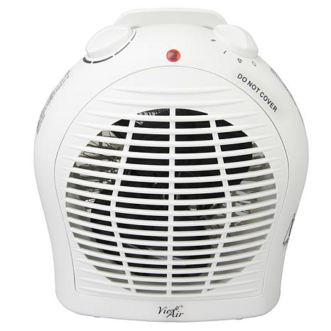 Vie Air 1500W Portable 2-Settings White Fan Heater with Adjustable ...