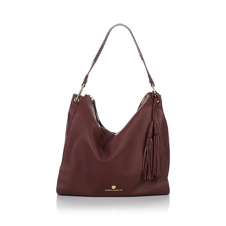 """Vince Camuto """"Cecil"""" Leather Slouchy Shoulder Bag"""