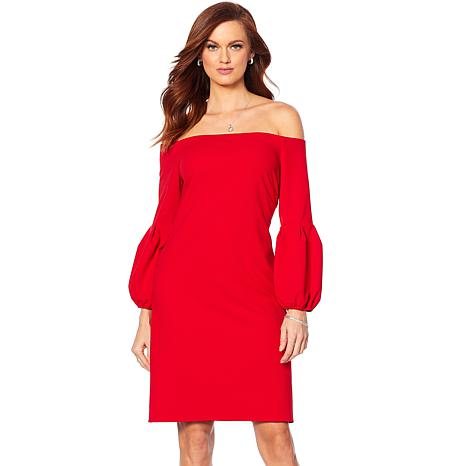 Vince Camuto Crepe Ponte Off-the-Shoulder Dress
