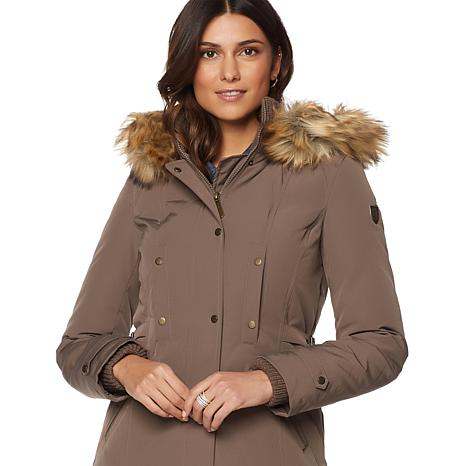 Vince Camuto Down Coat with Faux-Fur Trim - 8137064 | HSN