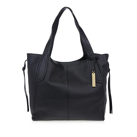 Vince Camuto Mara Black Leather Tote