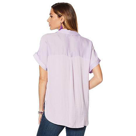 2c5804e72b16bc Vince Camuto Oasis Bloom Popover Blouse - 8926570
