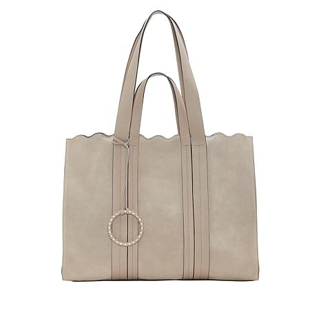 4afc68be44 Vince Camuto Wavy Leather Tote - 8861055 | HSN