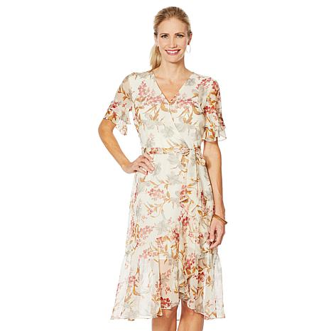 12b2ed315d3 Vince Camuto Wildflower Ruffle-Sleeve Dress - 8928883