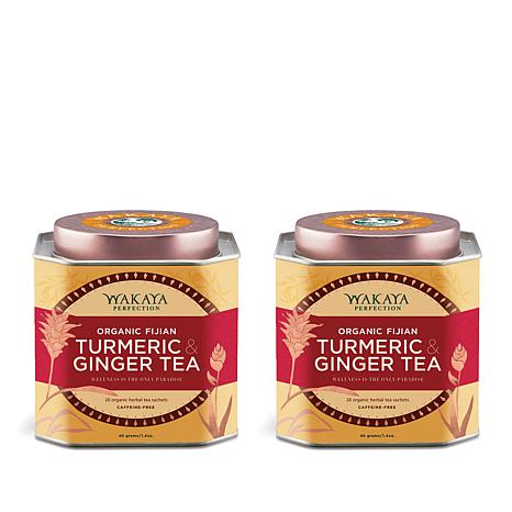 Wakaya Perfection Organic Ginger & Turmeric Tea 2pk AS