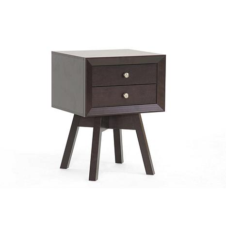 Warwick Brown Modern Accent Table and Nightstand