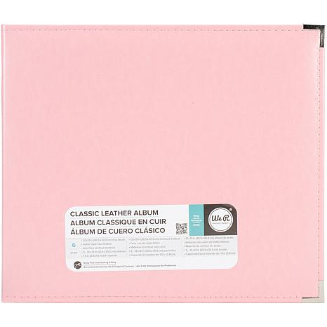 We R Classic Leather D-Ring Album 12X12 - Pretty Pink