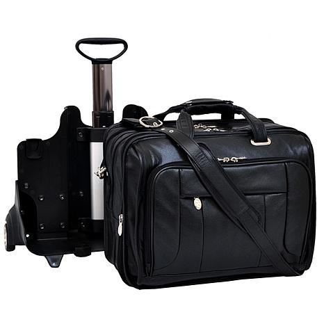 West Town Leather Detachable Wheeled Case