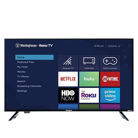 """Westinghouse 40"""" Smart HDTV w/Built-In Roku, 2-Year Warranty & Voucher"""