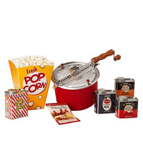 Whirley Pop 6-piece Popcorn Kit with Retro Tins