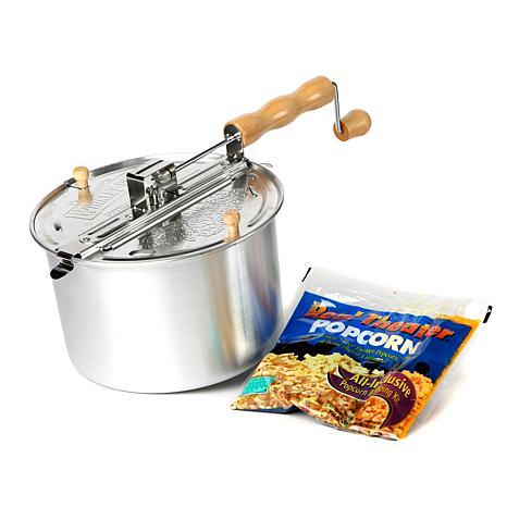 Whirley Pop Original Popcorn Kit w/Real Theater Popcorn