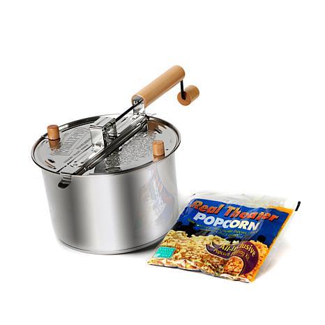 Whirley Pop Stainless Steel Popcorn Kit