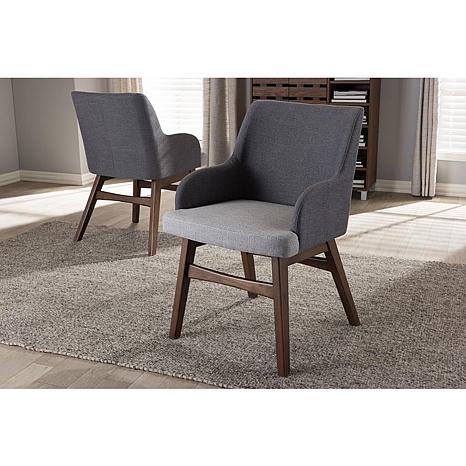 Wholesale Interiors Monte Fabric 2-piece Armchair Set - 2-Tone Gray