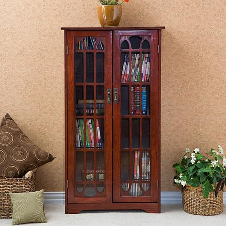Attrayant Window Pane Media Cabinet   Cherry