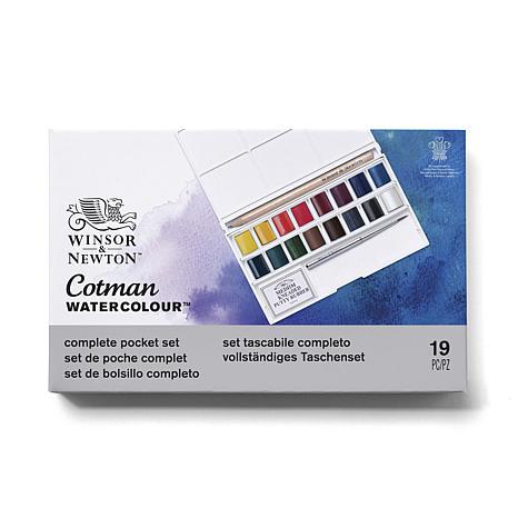 Winsor & Newton Cotman Water Color Deluxe Sketchers' Pocket Box - 16k