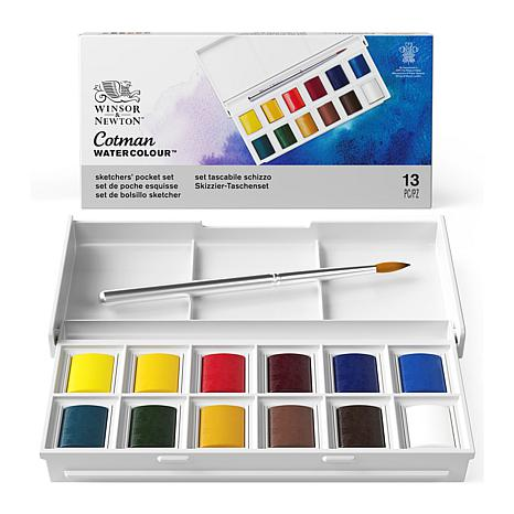 Winsor and Newton Cotman Water Color Sketchers' Pocket Box - Set of 12