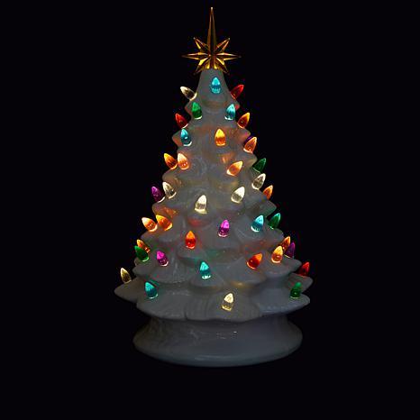 winter lane 14 led lighted ceramic musical christmas tree 8654428 hsn