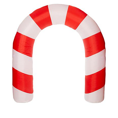 Winter Lane 8' Candy Cane Arch w/Projection Christmas Inflatable Décor