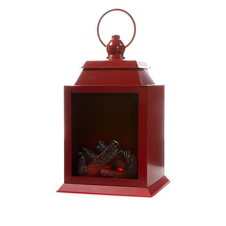 Winter Lane FireGlow Battery-Operated Lantern