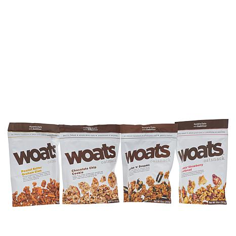 WOATS Oatsnack 4-pack 10 oz. Soft Oat Variety Pack Assorted Flavors