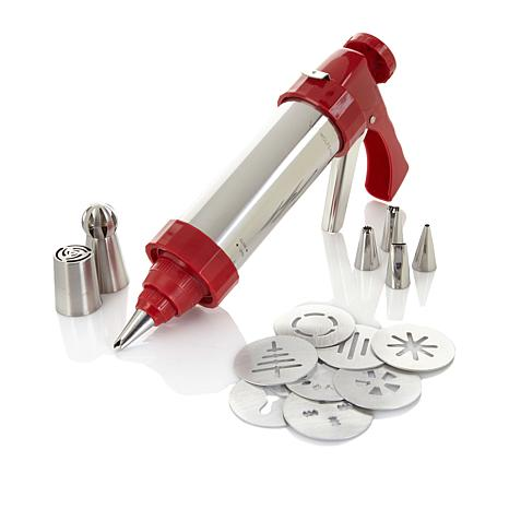 Wolfgang Puck 15-piece Cookie Press Set with Decorating Tips ...