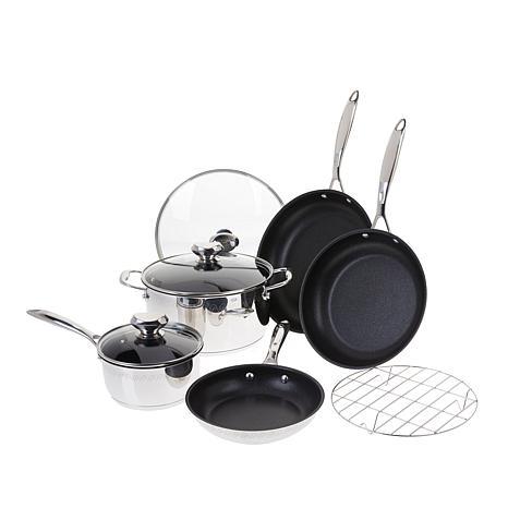 Wolfgang Puck Plasma Elite 9-piece Stainless Steel Cookware Set