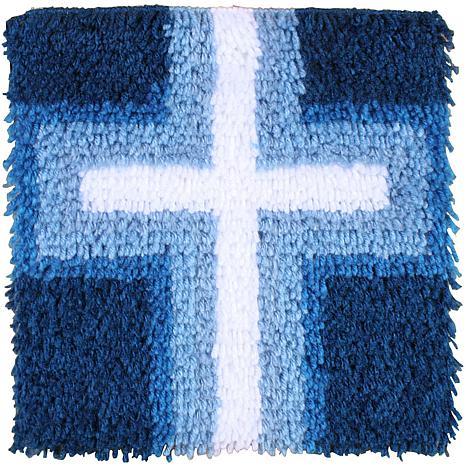 Caron Wonderart Latch Hook Kit 12x12 Cross Of Light 7269592 Hsn