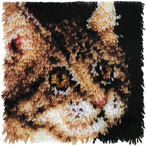 "Wonderart 12"" x 12"" Latch Hook Kit - Tabby"