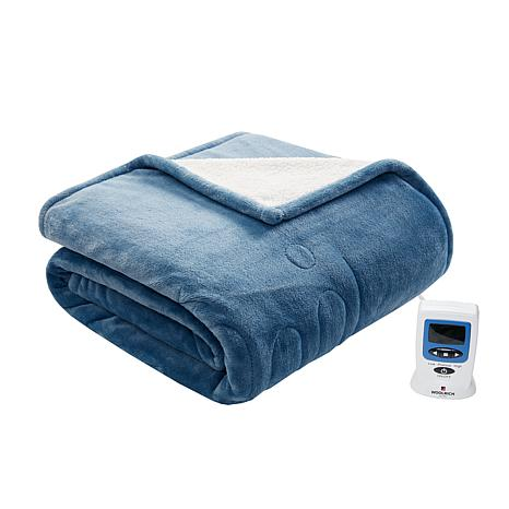 Woolrich Microlight Plush To Berber Heated Blanket Queen